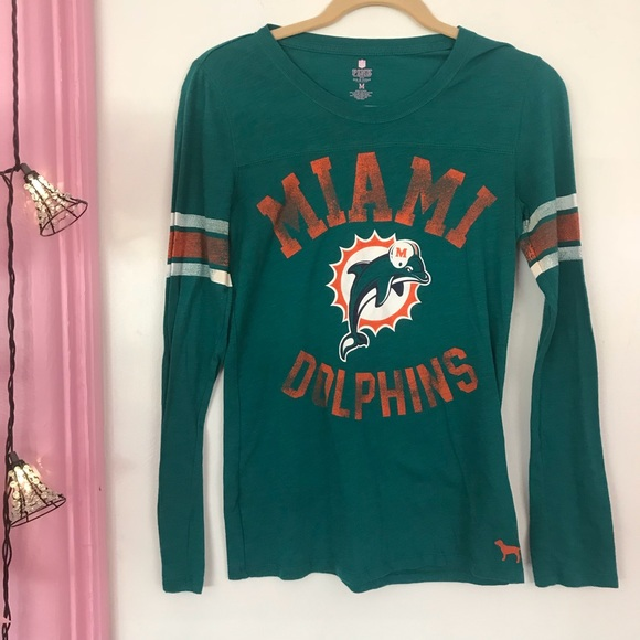 more photos 52373 b7dc6 Victoria's Secret PINK Miami Dolphins Long Sleeve